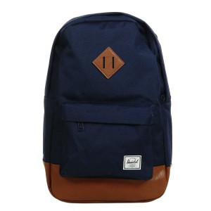 Herschel Sac à dos Heritage Mid Volume peacoat/tan synthetic leather [ Promotion Black Friday Soldes ]