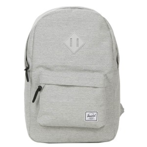 Herschel Sac à dos Heritage Mid Volume light grey crosshatch [ Promotion Black Friday Soldes ]