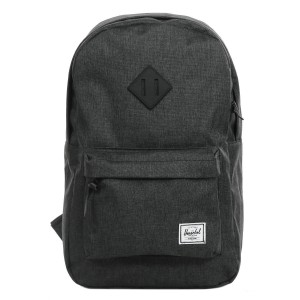 Herschel Sac à dos Heritage Mid Volume black crosshatch/black rubber [ Promotion Black Friday Soldes ]