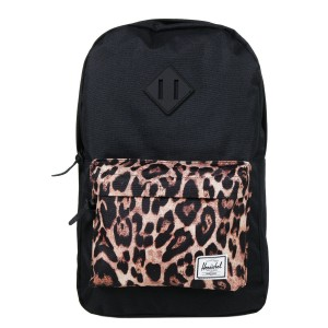 Herschel Sac à dos Heritage Mid Volume black/desert cheetah [ Promotion Black Friday Soldes ]