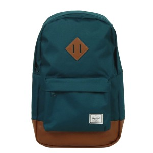 Herschel Sac à dos Heritage Mid Volume deep teal/tan synthetic leather [ Promotion Black Friday Soldes ]