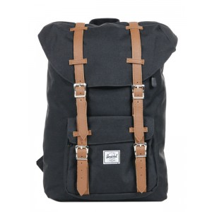 Herschel Sac à dos Little America Mid Volume black/tan [ Promotion Black Friday Soldes ]