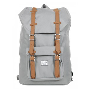 Herschel Sac à dos Little America Mid Volume grey/tan [ Promotion Black Friday Soldes ]