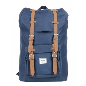 Herschel Sac à dos Little America Mid Volume navy/tan [ Promotion Black Friday Soldes ]
