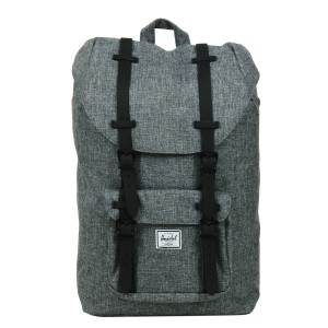 Herschel Sac à dos Little America Mid Volume raven crosshatch/black rubber [ Promotion Black Friday Soldes ]
