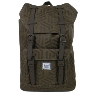 Herschel Sac à dos Little America Mid Volume metric/black rubber [ Promotion Black Friday Soldes ]