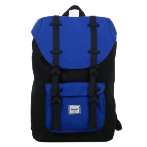 Herschel Sac à dos Little America Mid Volume black/surf the web/black rubber [ Promotion Black Friday Soldes ]