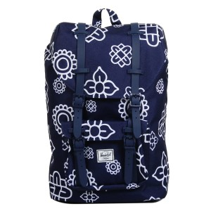 Herschel Sac à dos Little America Mid Volume peacoat paisley print/peacoat rubber [ Promotion Black Friday Soldes ]