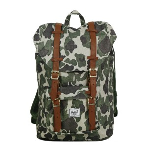 Herschel Sac à dos Little America Mid Volume frog camo/tan synthetic leather [ Promotion Black Friday Soldes ]