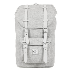 Herschel Sac à dos Little America Mid Volume light grey crosshatch/grey rubber [ Promotion Black Friday Soldes ]