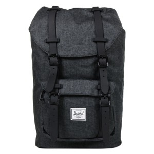 Herschel Sac à dos Little America Mid Volume black crosshatch/black rubber [ Promotion Black Friday Soldes ]