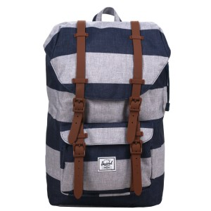 Herschel Sac à dos Little America Mid Volume border stripe/saddle [ Promotion Black Friday Soldes ]