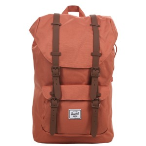 Herschel Sac à dos Little America Mid Volume apricot brandy/saddle brown [ Promotion Black Friday Soldes ]