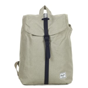 Herschel Sac à dos Post Mid Volume light khaki crosshatch/peacoat rubber/white inset [ Promotion Black Friday Soldes ]