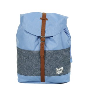 Herschel Sac à dos Post Mid Volume hydrangea/dark chambray crosshatch/tan [ Promotion Black Friday Soldes ]
