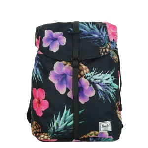Herschel Sac à dos Post Mid Volume black pineapple/black rubber | Pas Cher Jusqu'à 20% - 80%
