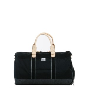 Herschel Sac de voyage Novel Offset 52 cm black/black denim [ Promotion Black Friday Soldes ]