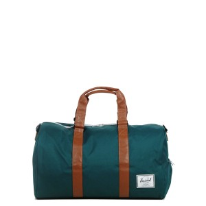 Herschel Sac de voyage Novel 52 cm deep teal/tan synthetic leather [ Promotion Black Friday Soldes ]