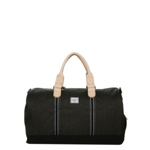 Herschel Sac de voyage Novel Offset 52 cm black crosshatch/black [ Promotion Black Friday Soldes ]
