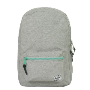 Herschel Sac à dos Settlement Mid Volume light grey crosshatch/lucite green zip [ Promotion Black Friday Soldes ]