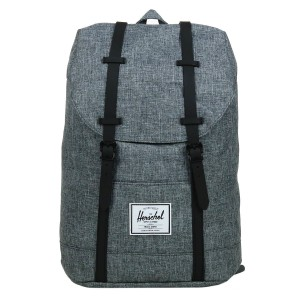 Herschel Sac à dos Retreat raven crosshatch/black rubber [ Promotion Black Friday Soldes ]