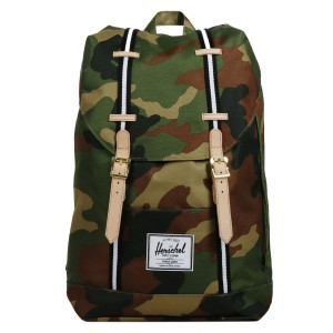 Herschel Sac à dos Retreat Offset woodland camo/black/white [ Promotion Black Friday Soldes ]