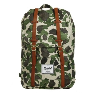 Herschel Sac à dos Retreat frog camo/tan synthetic leather [ Promotion Black Friday Soldes ]