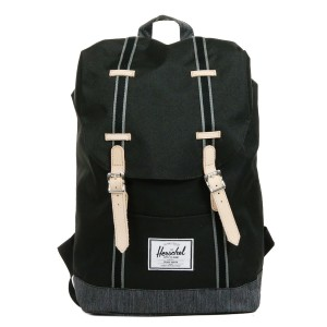 Herschel Sac à dos Retreat Offset black/black denim [ Promotion Black Friday Soldes ]
