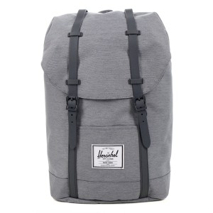 Herschel Sac à dos Retreat mid grey crosshatch [ Promotion Black Friday Soldes ]