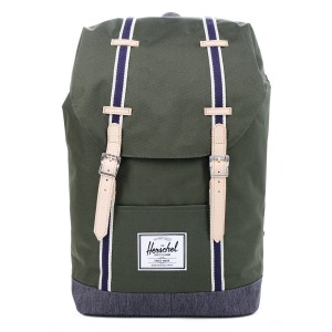 Herschel Sac à dos Retreat Offset forest night/ dark denim [ Promotion Black Friday Soldes ]