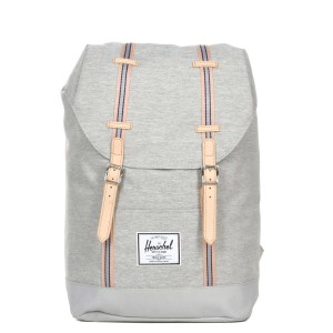 Herschel Sac à dos Retreat Offset light grey crosshatch/high rise | Pas Cher Jusqu'à 20% - 80%