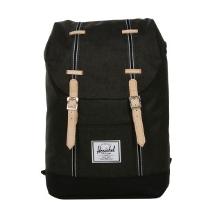 Herschel Sac à dos Retreat Offset black crosshatch/black [ Promotion Black Friday Soldes ]