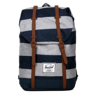 Herschel Sac à dos Retreat border stripe/saddle [ Promotion Black Friday Soldes ]