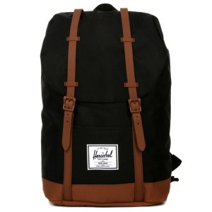 Herschel Sac à dos Retreat black/saddle brown | Pas Cher Jusqu'à 20% - 80%