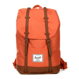 Herschel Sac à dos Retreat apricot brandy/saddle brown [ Promotion Black Friday Soldes ]
