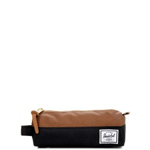 Herschel Trousse Settlement Case black/saddle brown [ Promotion Black Friday Soldes ]