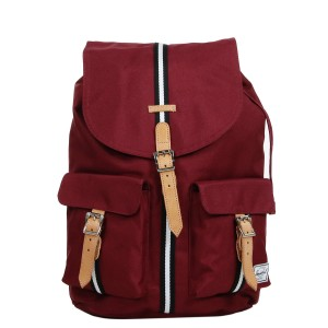 Herschel Sac à dos Dawson Offset windsor wine/veggie tan leather [ Promotion Black Friday Soldes ]