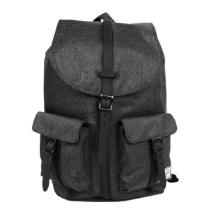 Herschel Sac à dos Dawson black crosshatch/black rubber [ Promotion Black Friday Soldes ]