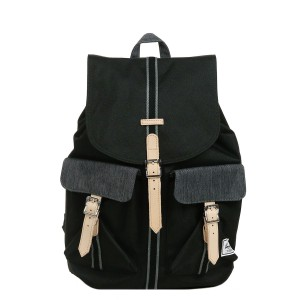 Herschel Sac à dos Dawson Offset black/black denim [ Promotion Black Friday Soldes ]