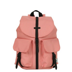 Herschel Sac à dos Dawson X-Small strawberry ice grid/black rubber [ Promotion Black Friday Soldes ]