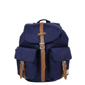 Herschel Sac à dos Dawson X-Small peacoat/tan synthetic leather [ Promotion Black Friday Soldes ]
