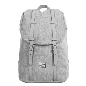 Herschel Sac à dos Retreat Mid-Volume light grey crosshatch/grey rubber [ Promotion Black Friday Soldes ]