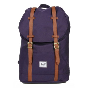 Herschel Sac à dos Retreat Mid-Volume purple velvet [ Promotion Black Friday Soldes ]