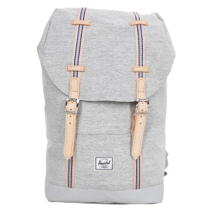 Herschel Sac à dos Retreat Mid-Volume Offset light grey crosshatch/high rise | Pas Cher Jusqu'à 20% - 80%