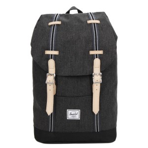 Herschel Sac à dos Retreat Mid-Volume Offset black crosshatch/black [ Promotion Black Friday Soldes ]