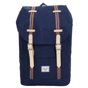 Herschel Sac à dos Retreat Mid-Volume Offset medieval blue crosshatch/medieval blue [ Promotion Black Friday Soldes ]
