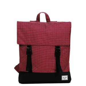 Herschel Sac à dos Survey windsor wine grid/black [ Promotion Black Friday Soldes ]
