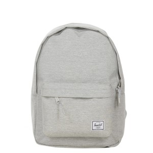 Herschel Sac à dos Classic Mid-Volume light grey crosshatch [ Promotion Black Friday Soldes ]