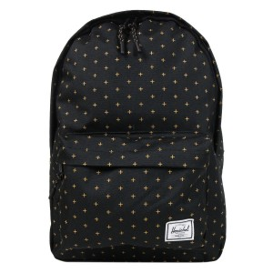 Herschel Sac à dos Classic Mid-Volume black gridlock gold [ Promotion Black Friday Soldes ]