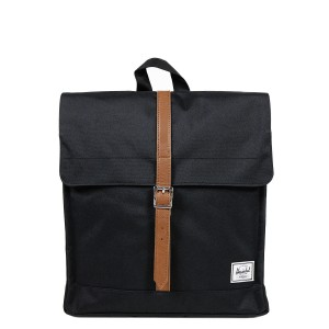Herschel Sac à dos City Mid-Volume black/tan [ Promotion Black Friday Soldes ]